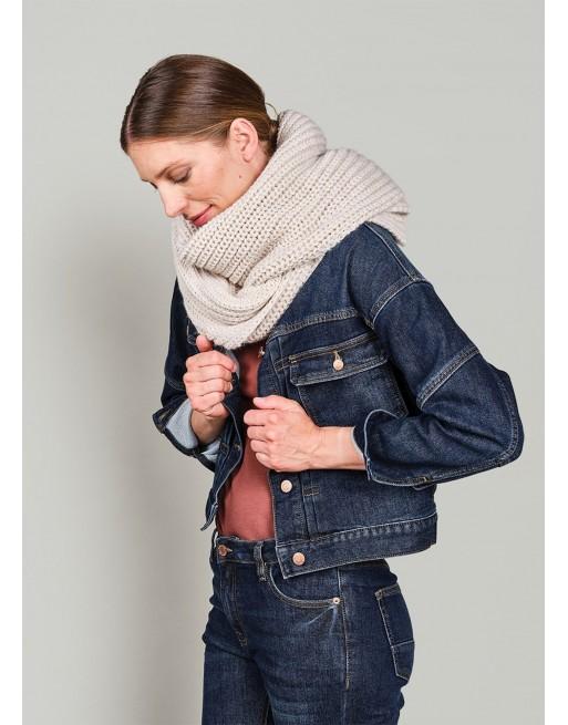 Scarf chunky melange knit