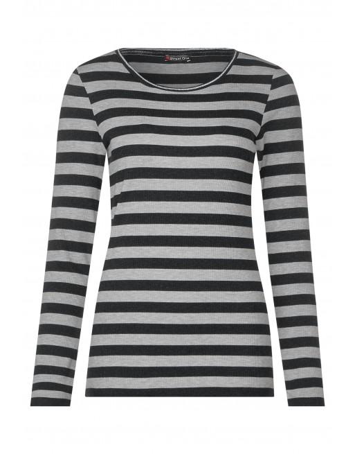 stripe shirt w.lurex stripe co