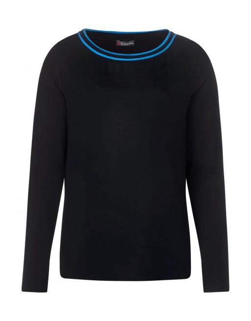 mat-mix shirt w.kick neckline