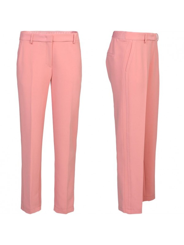 trousers structured stretch