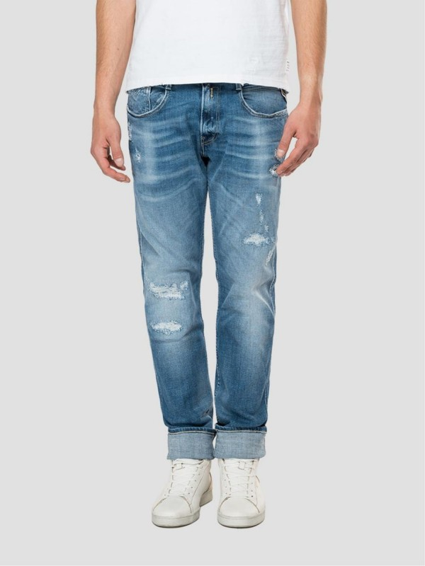 Slim Fit Jeans Anbass Aged...