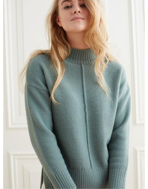 Sweater met hoge kraag