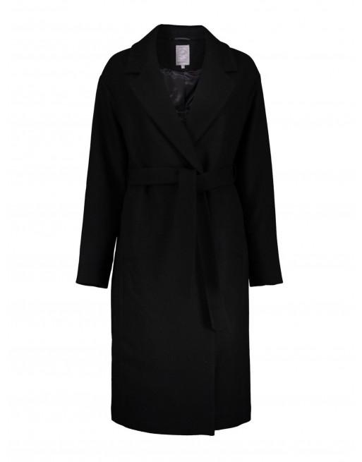Lange coat van gerecycled wol