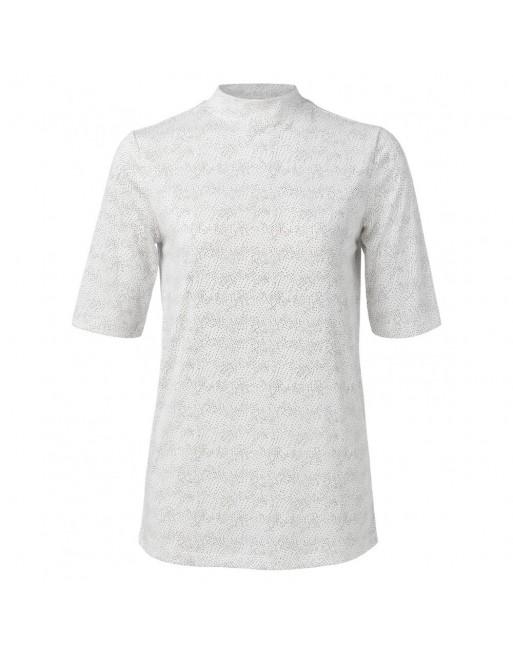 High neck T-shirt with dots pr