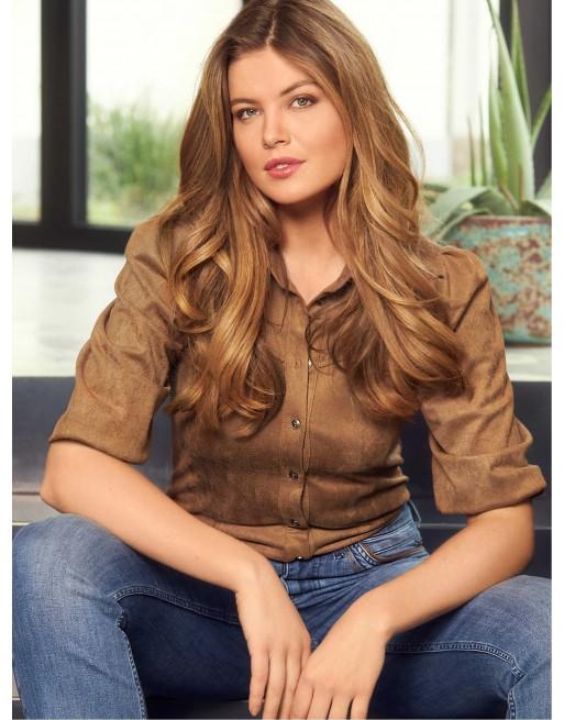 Suedine blouse