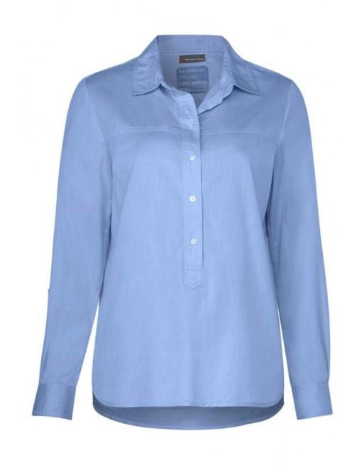 Chambray shirtcollar blouse