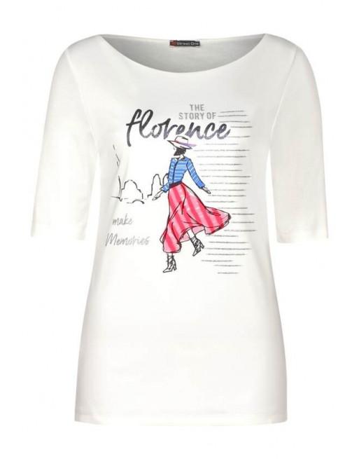 florence partprint shirt