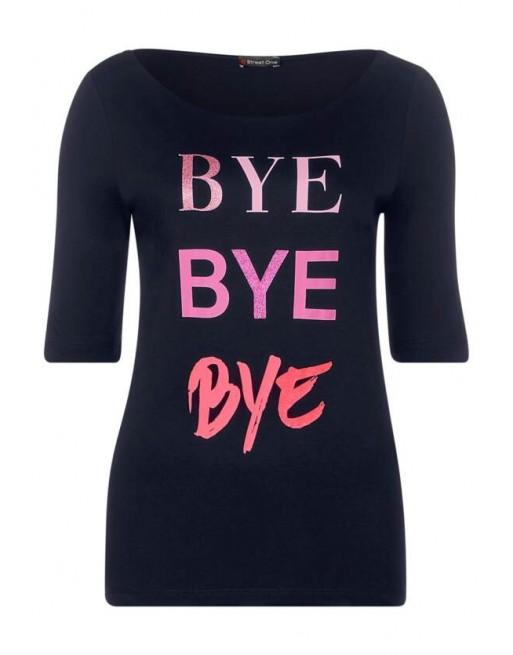bye bye partprint shirt