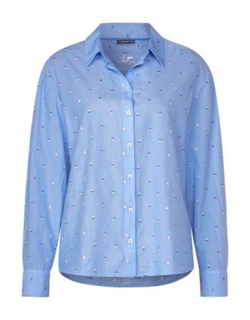 Oversized shirtcollar blouse e