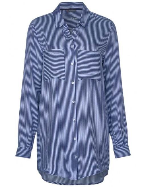 Striped longblouse w pockets