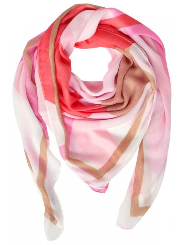 Graphical Print Square Scarf