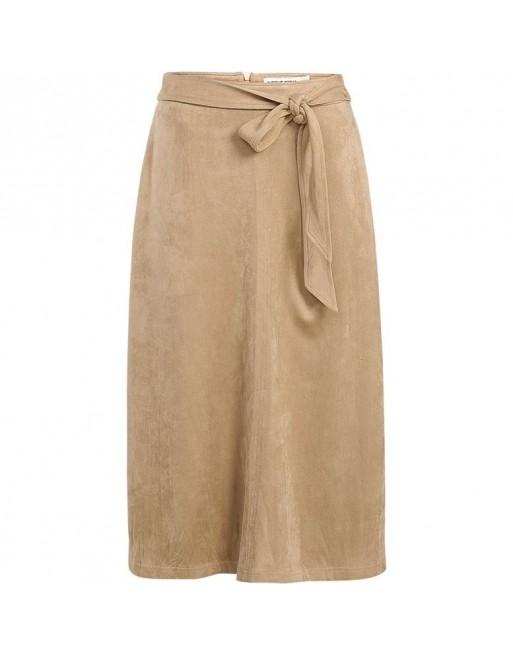 belted skirt suedine stretch