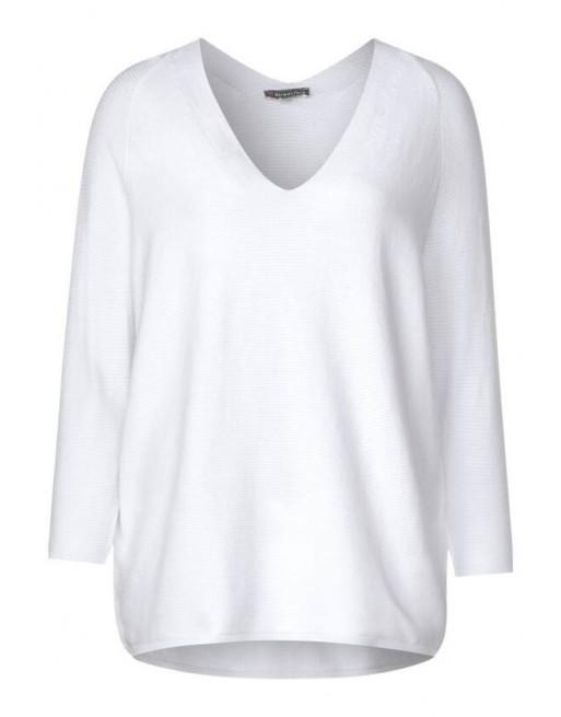 raglan v-neck, fine knit