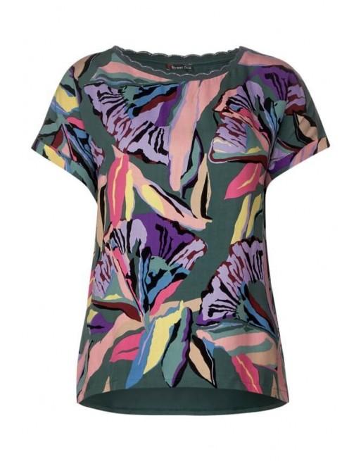flower mat mix shirt