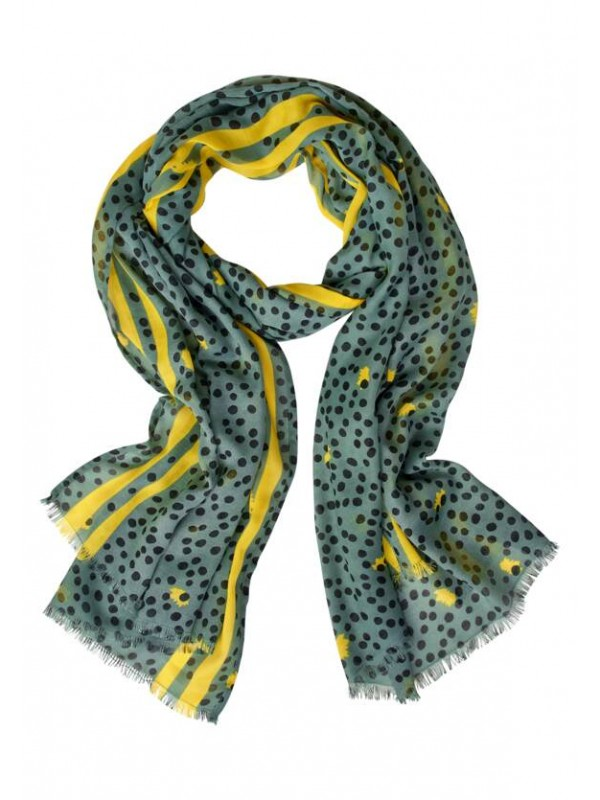 Allover Dot Print Scarf
