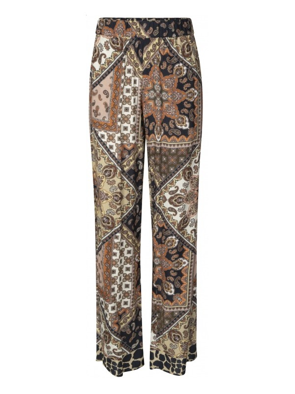 Trousers Wide Leg Scarf Print