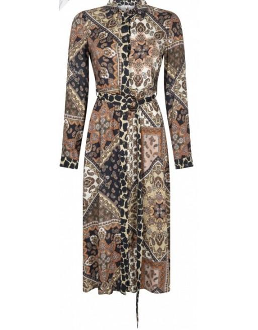 Dress Midi Scarf Print