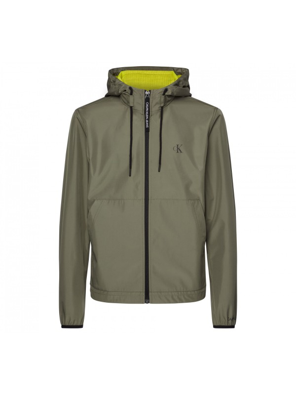 Jersey lined hooded jacket