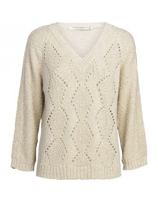 sweater irregular knit yam