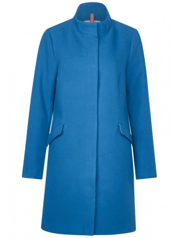 cosy coat w. stand up collar