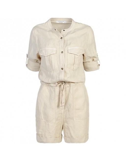 jumpsuit short flowly linen...