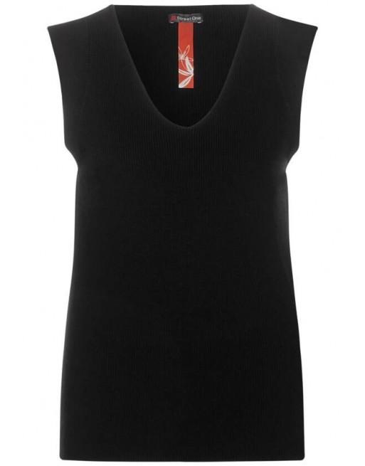 v-neck top, fine knit
