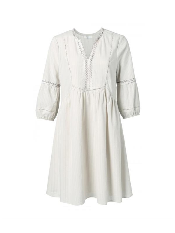 Cotton dress with ruching