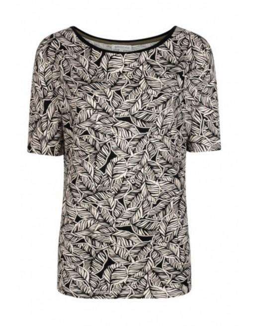 T-Shirt Loose 2-Tone Leaf