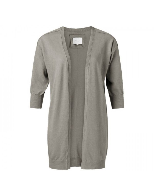 Linen blend loose fit cardigan