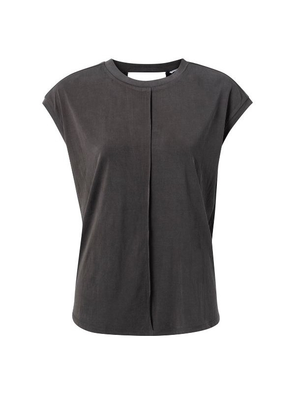 Modal blend top with open back
