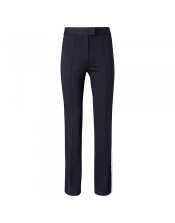 Flared trousers with side stri