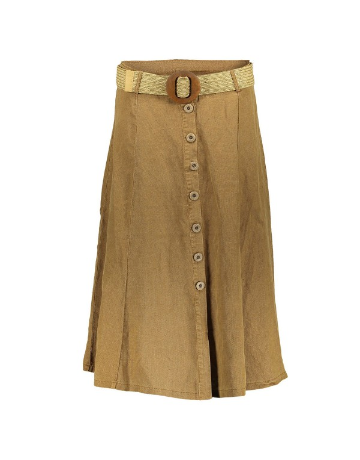 Skirt Long with belt/buttons