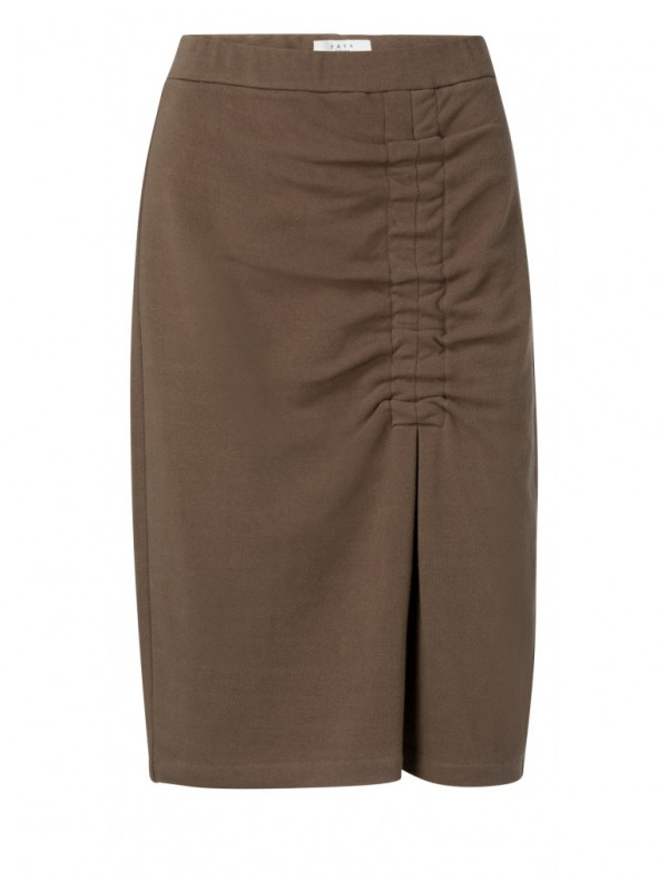 Jersey cotton pencil skirt