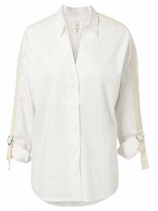 Cotton shirt with ruffles