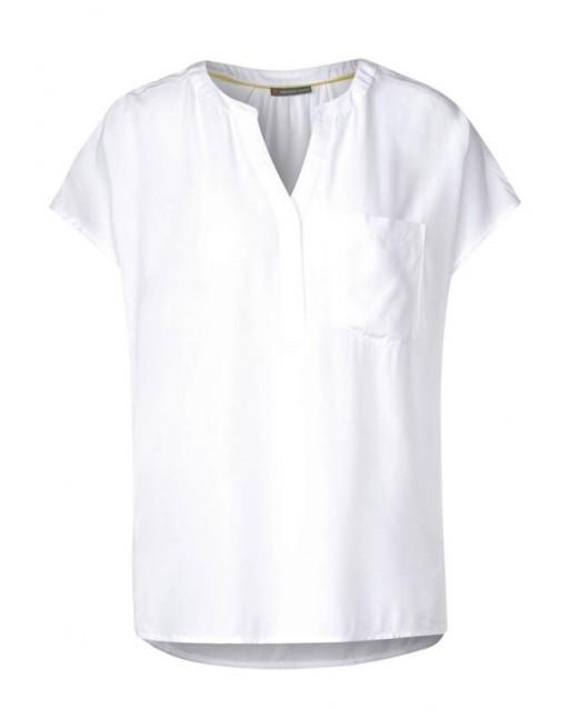 Solid shirtblouse w pocket