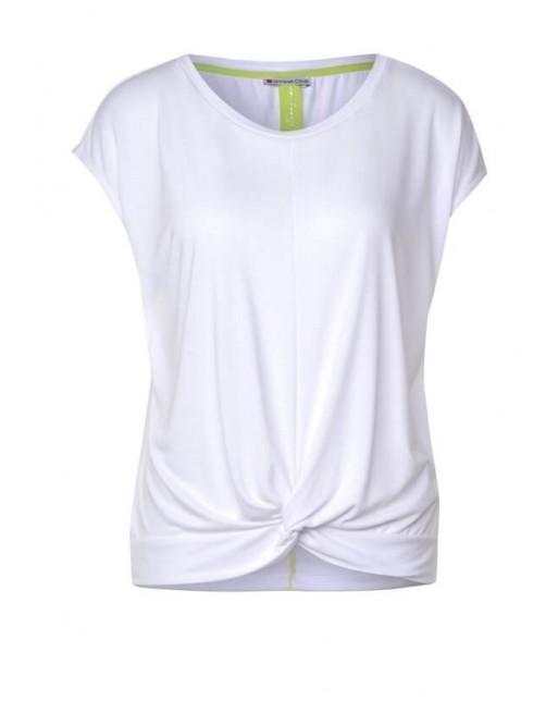 silk look shirt w.knot