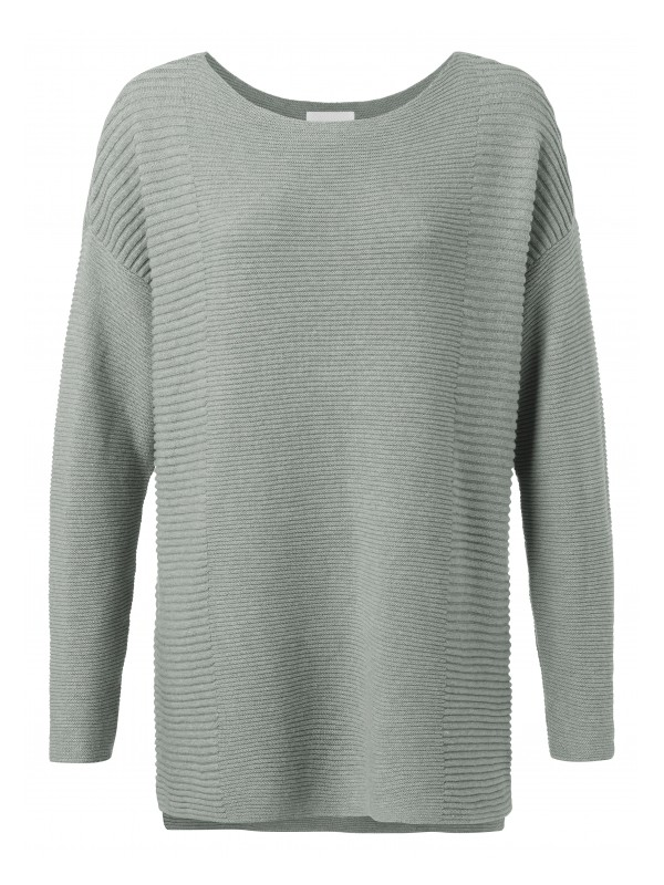 Cotton sweater with splits