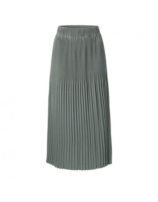 Jersey midi skirt with pleats