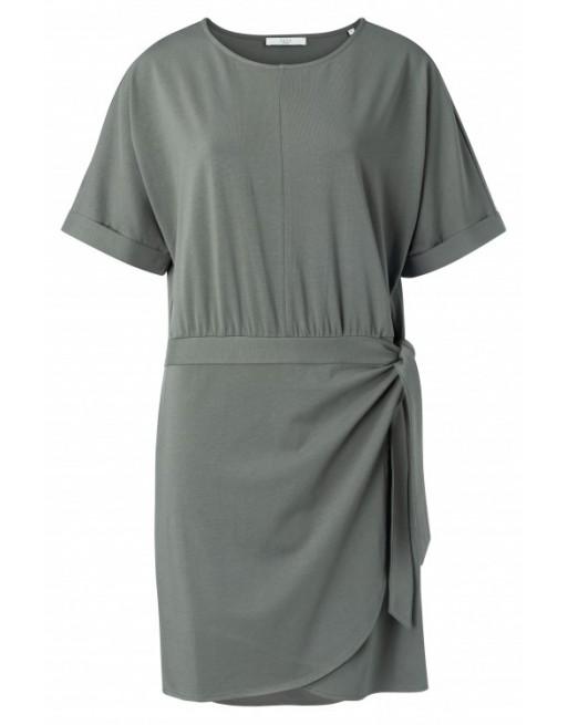 Modal cotton blend wrap dress