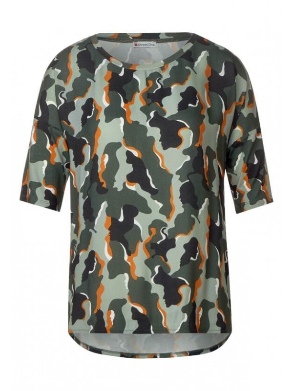 camouflage mat mix shirt