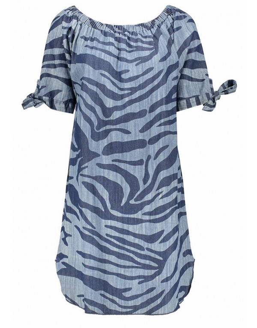 Dress zebra print denim 3/4...