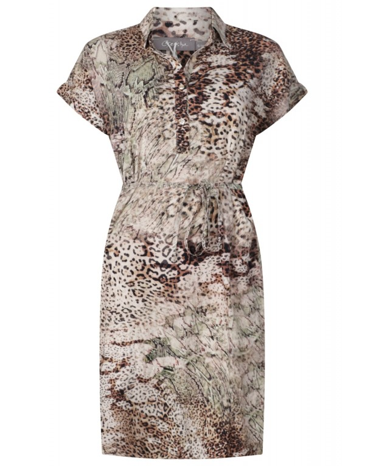 Dress mixed animal prints s/s