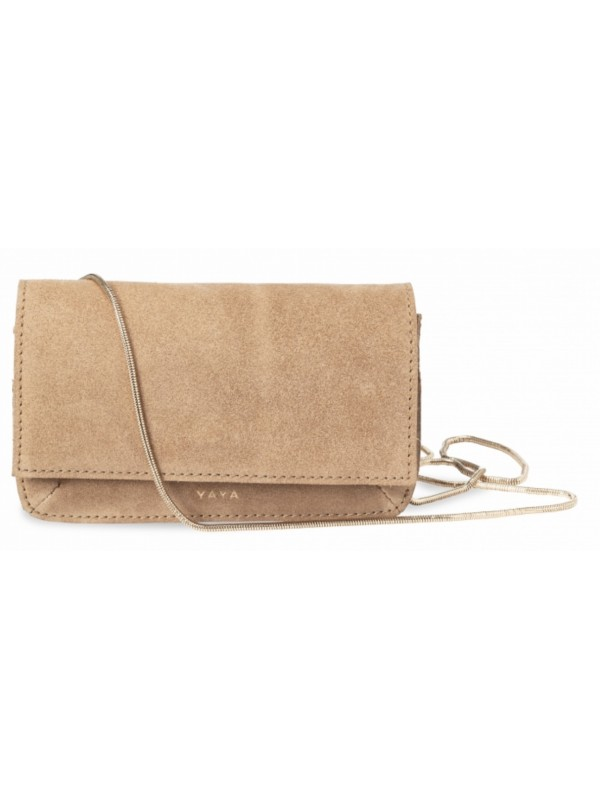 Suede mini bag with chain