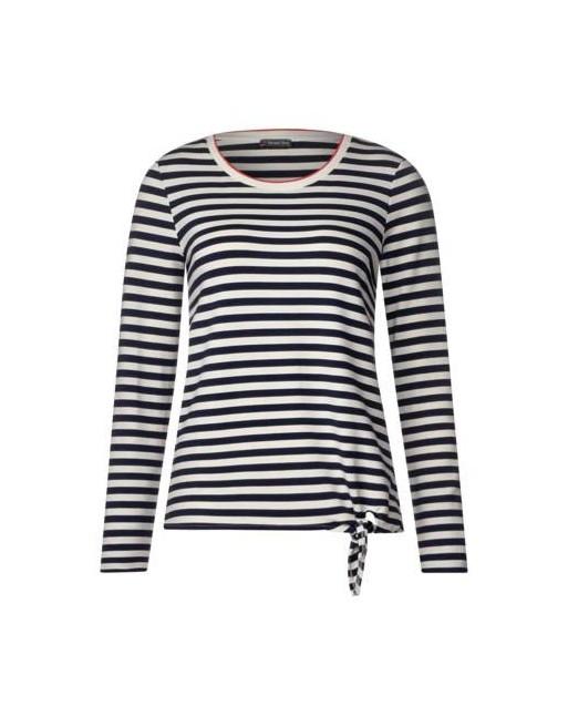 stripe shirt w.knot