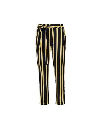 trousers striped crepe