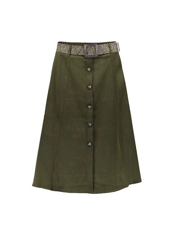 Skirt wide suedine