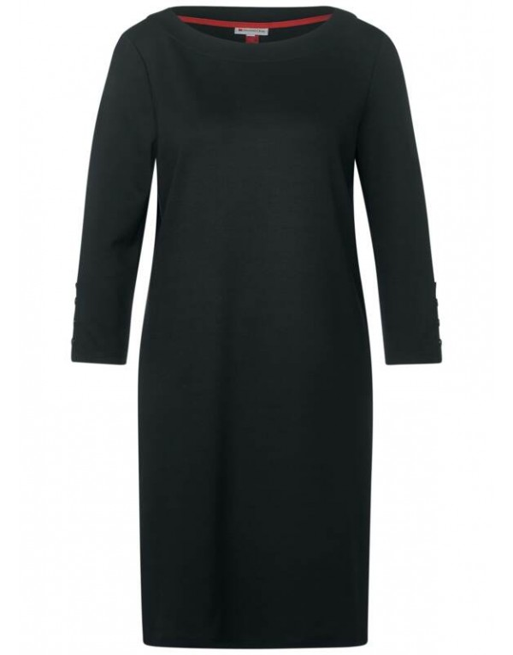 Jersey Dress w Buttons_kneelen