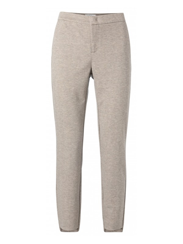 Stretch trousers with fishbone