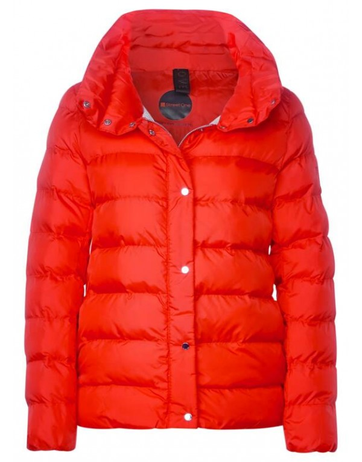 short padded jacket w. stand u