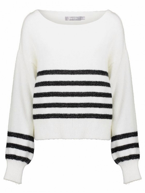 Pull stripes with lurex